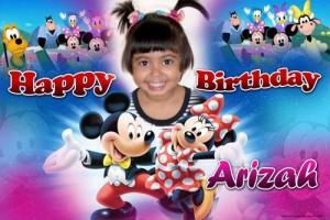 Mickey and Minnie 1st Birthday Banner