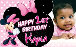 Minnie Mouse 1st Birthday Party Banner