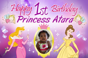 Fairy Princess 1st Birthday Banner